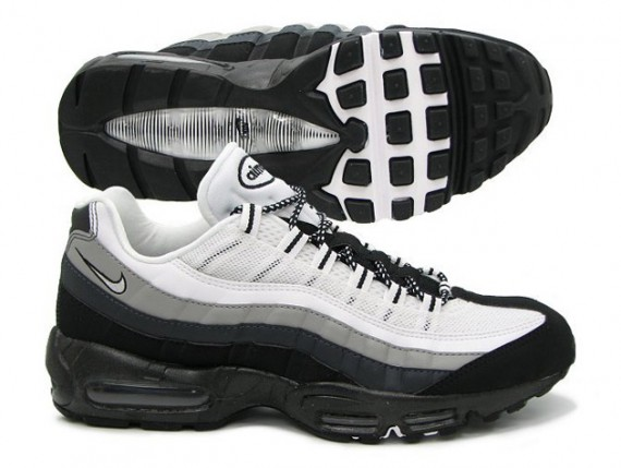 air max 95 black white