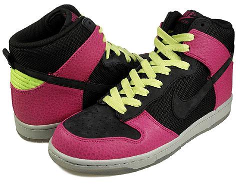 best service cd747 2e3c5 Nike Dunk High Supreme Spark - Black - Rave Pink - Citron ...