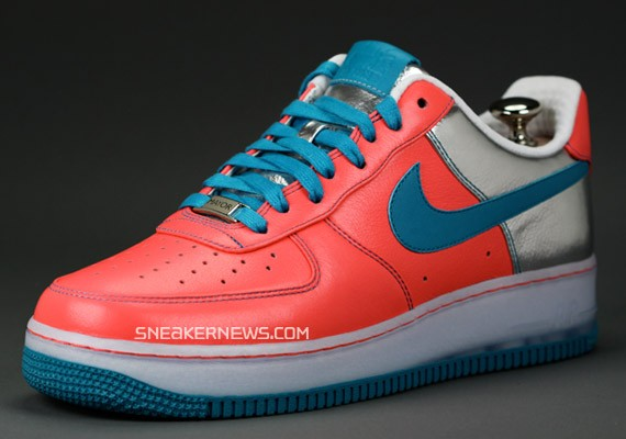 Nike Air Force 1 Bespoke - Infrared - Teal by Mayor