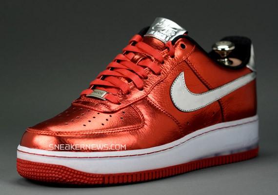 Nike Air Force 1 Bespoke Red Metallic By Mayor