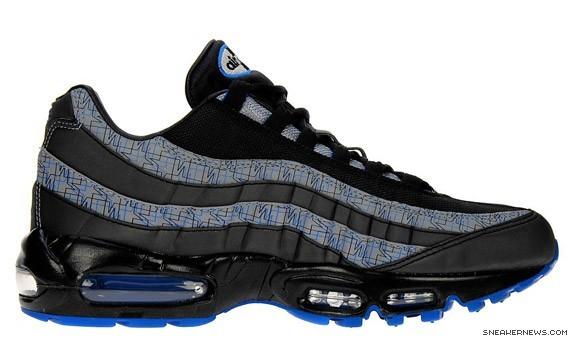 save off 3c94c a2e82 Nike Air Max 95 - Black- Blue Sapphire - JD Exclusive ...
