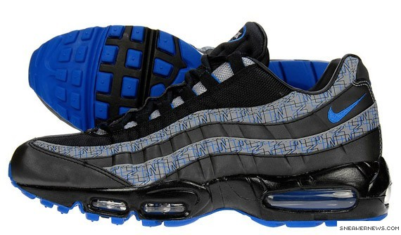... Nike Air Max 95 - Black- Blue Sapphire - JD Exclusive ... 142c3d8440f