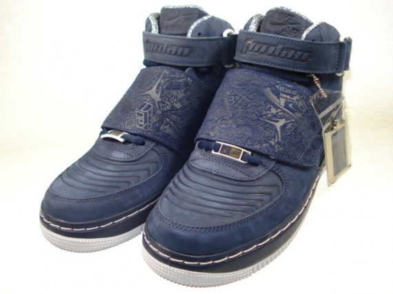 new concept d666e dce48 Air Jordan Force XX (AJF 20) Fusion - Midnight Navy - White - Silver