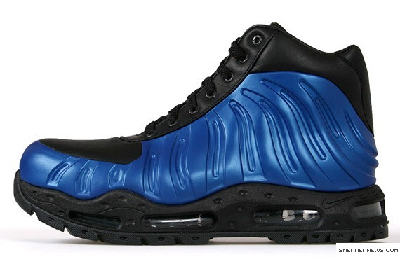 differently 029e9 c888c Nike Foamposite Boot Neon Royal