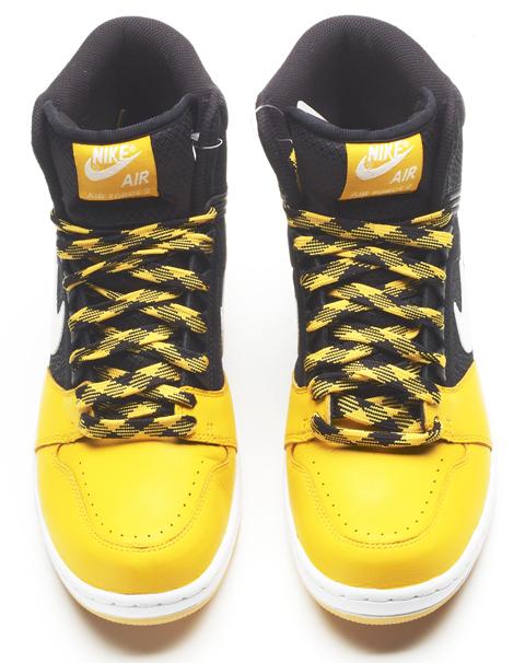 Nike Air Force 1 Alto Negro Y Amarillo Ll4ZaMmR7