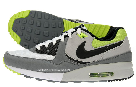 Nike Air Max Light Grey Neon Green JD Sports Exclusive
