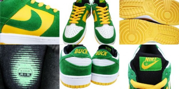 Nike Dunk Low Pro SB - Buck - White - Classic Green - Del Sol