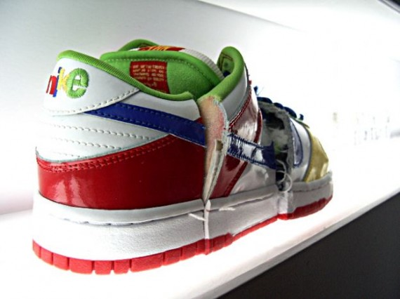 Nike Dunk Low Pro SB - eBay - White - Blue - Mean Green - Sport Red