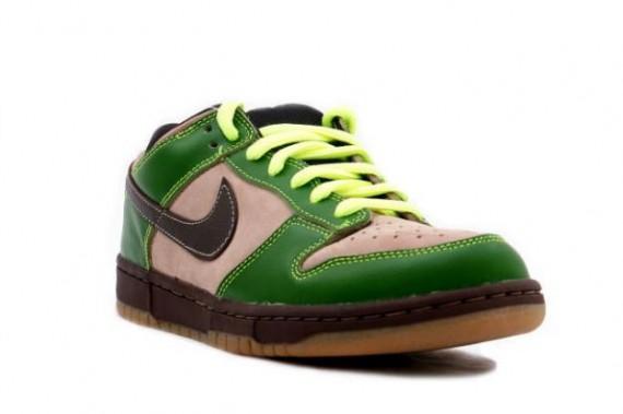 green and brown nike sb