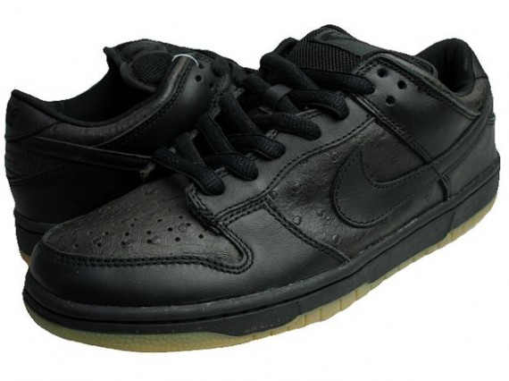 nike dunk low all black