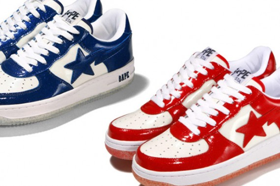 A Bathing Ape Bapesta Sparkly Patent Leather