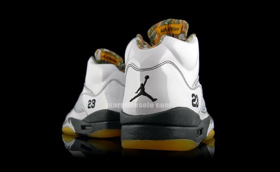 best service f7cf3 60729 Air Jordan V (5) - White Patent - Dark Army - Del Sol