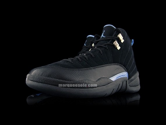 quality design 1fe81 4e3cf Air Jordan XII - Black - White - University Blue -