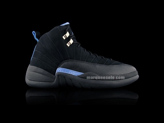 9c4440b43600 Air Jordan XII - Black - White - University Blue -