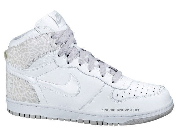 sports shoes 23550 5bd86 Big Nike High - White - Elephant Print