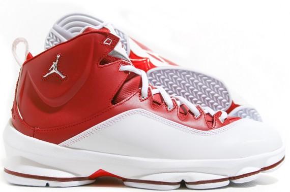 dcc7615a9a7 ... air jordan jumpman white Jordan Jumpman Elite I – WhiteMetallic Silver  – Varsity Red ...