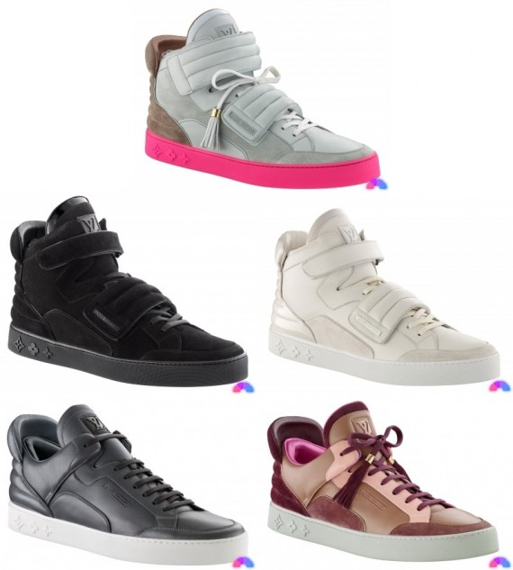 kanye west x louis vuitton hi top amp low top sneakers
