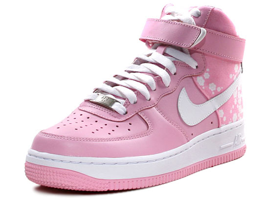 nike air force 1 womens pink white flowers. Black Bedroom Furniture Sets. Home Design Ideas