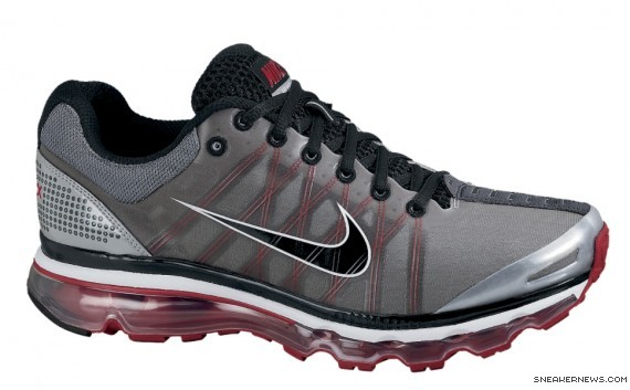 ... Nike Air Max 2011 Mens Running Shoe Black Red Silver ...