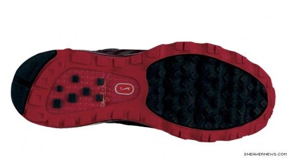 Nike Air Max 2010 womens Running Shoe Black Red .