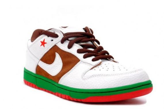 ... Nike Dunk Low Pro SB - Cali - Pecan - White .