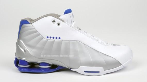 Nike Shox BB4 - White - Metallic Silver - Blue - SneakerNews.com