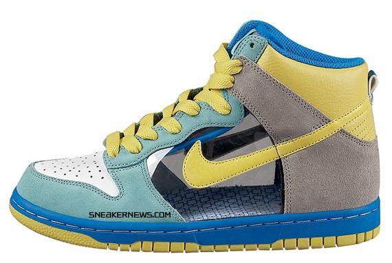 timeless design 45754 f0d16 Nike Womens Dunk High 6.0 - Mint - Yellow - Translucent