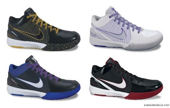 nike zoom kobe iv new colorways sneakernewscom