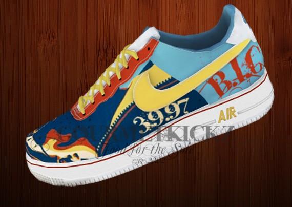 Custom Nike Af1 Low Gourmetkickz Notorious B I G Tribute Series Sneakernews Com