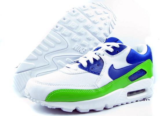 4ca788474a Nike Air Max 90 Premium LE - White - Mean Green - Team Royal ...