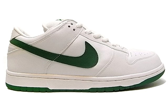 best loved 4e6ac 7946b Nike Dunk Low Pro SB – St. Patty – White – Classic Green ...