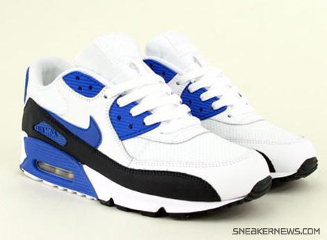 d1d07ec428 Nike Air Max 90 - White - Royal - Black - SneakerNews.com