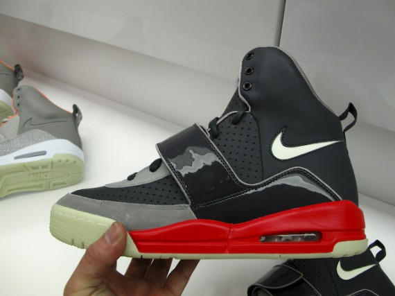 Nike Air Yeezy Black Grey Fire Red