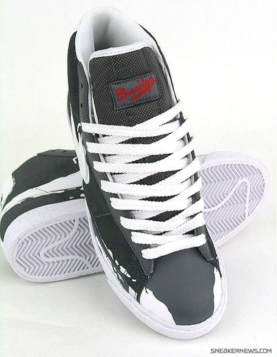 c3d179058 Nike Blazer High - Dark Grey - White - Jackie Robinson Pack ...
