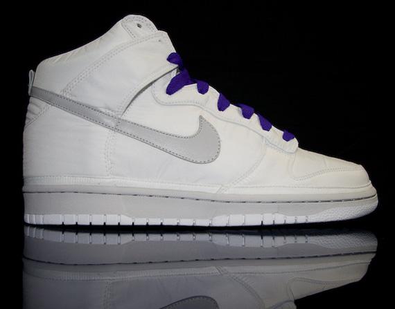 Nike Dunk High Nylon Premium - White - Purple - SneakerNews.com 4bd1b3c6dc21