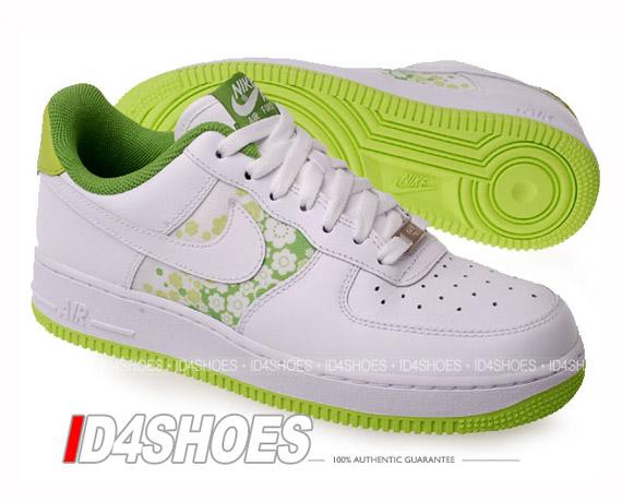 big sale ef70f 079d3 Nike Air Force 1 Low Womens - White - Citron - Sakura - SneakerNews.com