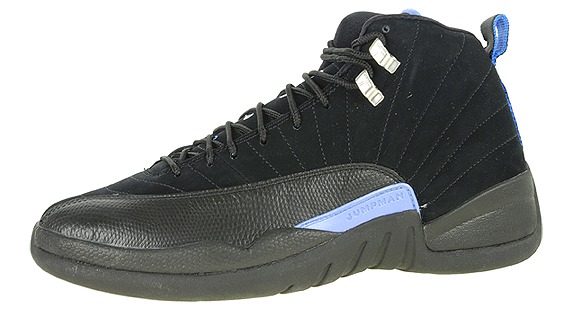 f5ffe33330ed Air Jordan XII Retro -  Nubuck  - Black - University Blue - Release ...