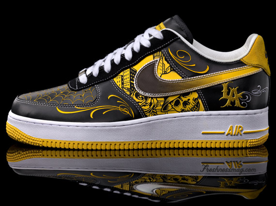sale retailer f051b ff7ff Nike Livestrong x Mister Cartoon Air Force 1 - Greatest Hits ...