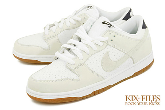 nike sb dunk low all white