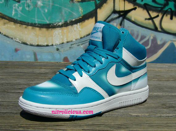 Nike Womens Spray Paint Pack Court Force High Vandal