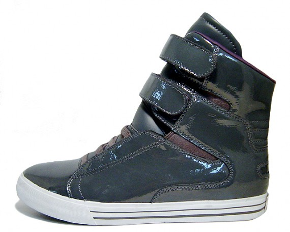 supra tk grey patent leather