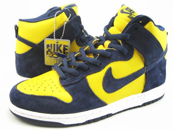 timeless design 35611 31461 Nike Dunk High SB - Be True To Your School - Michigan - Vars