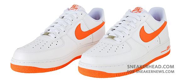 Nike Air Force 1 '07 White Orange Blaze