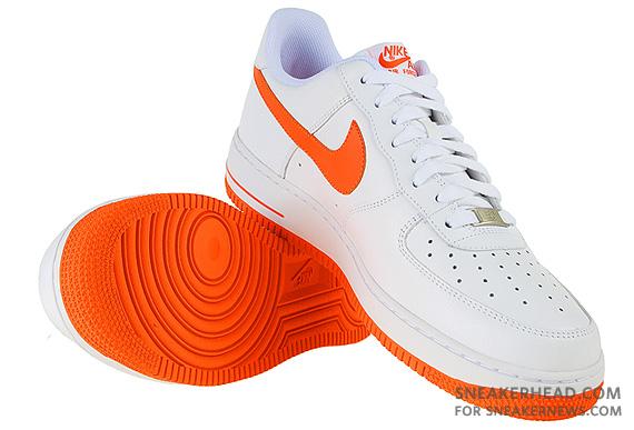 Nike Air Force 1 White And Orange