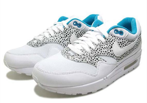 Nike Womens Air Max En Hvit Glass Blå Safari Første 9RiluN