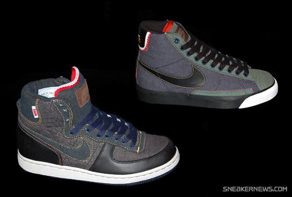 Nike Premium Selvage Denim Pack - Terminator High + Blazer High ... 55dcf2eca0