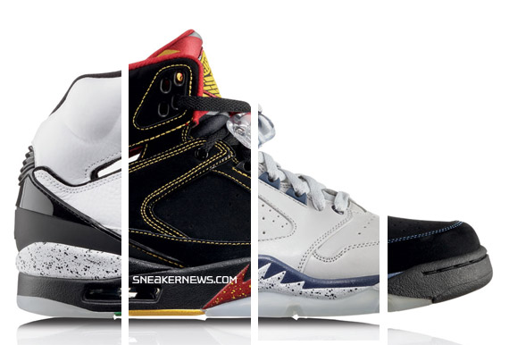 The four colorways are for each of the four teams Michael Jordan scored at  least 60pts against  the Atlanta Hawks ... c7fe5bdaa