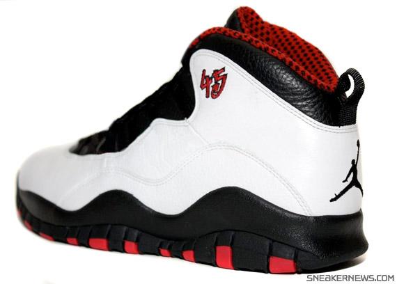 new concept e1ae9 0a731 Air Jordan X – Chicago 45 – White – Black – True Red – Look See Sample