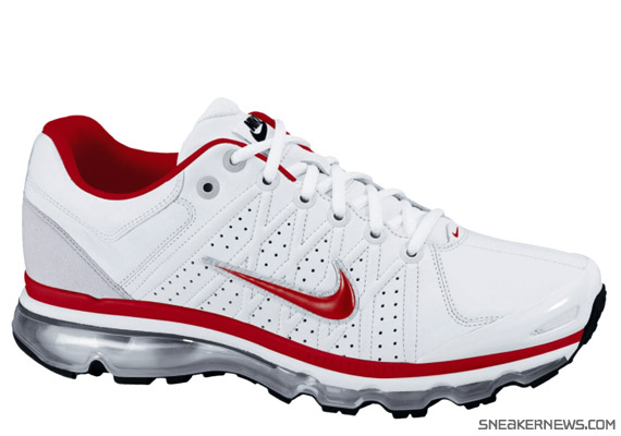 c4d71ed48f98b Nike Air Max 2009 Leather SI - White - Sport Red - Black ...