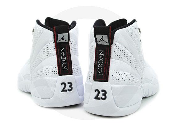all white jordan 12s